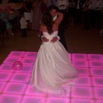 Wedding Dance on lovely Light Up Dance Floor