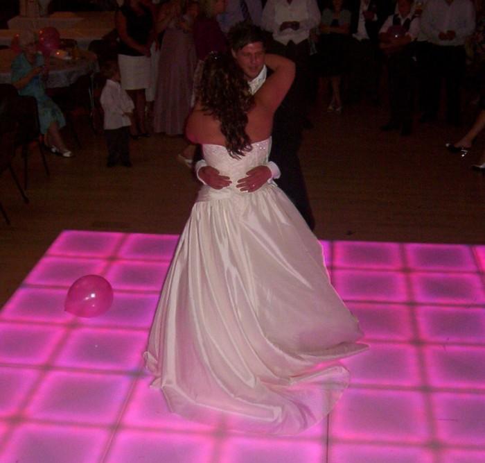 Wedding Dance on lovely Light Up Dance Floor