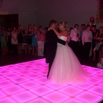 Wedding Dance on Colour changing LED Dance Floor