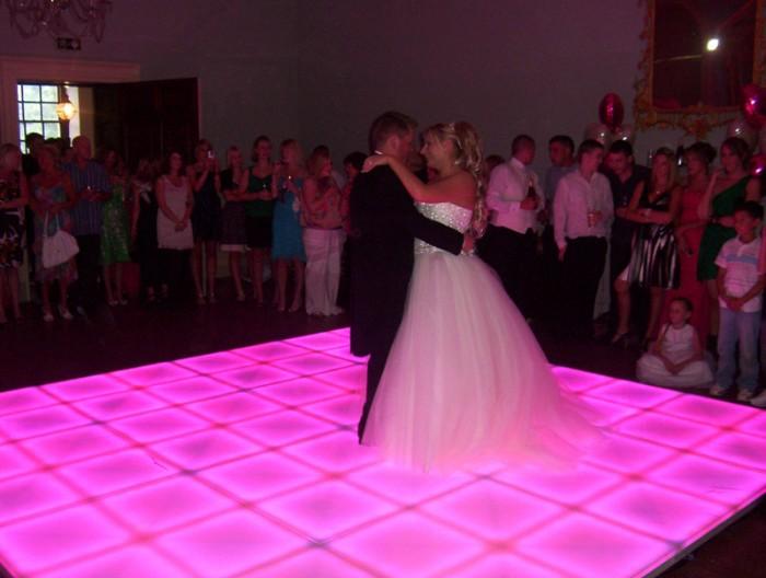 Wedding Dance on Colour changing LED Dance Floor