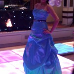 Bridesmaid on LED Dance Floor