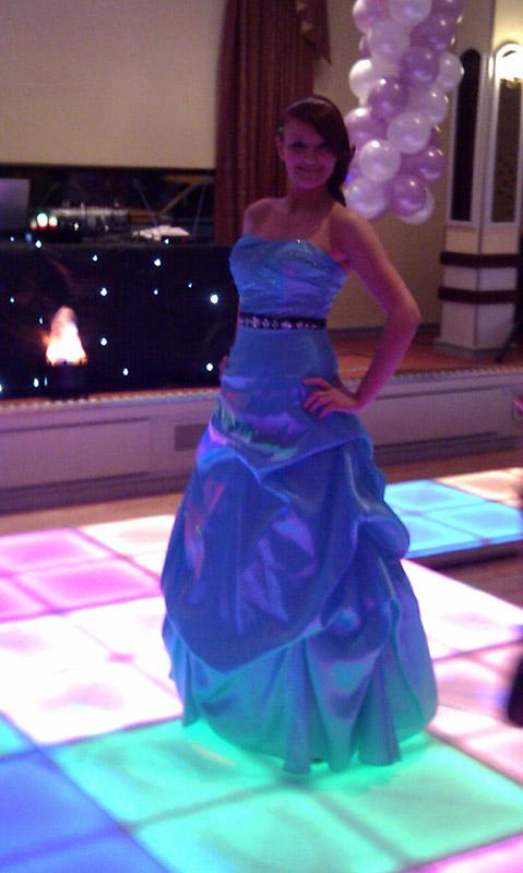 Bridesmaid on LED Dance Floor