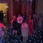 Wedding Party with Star LED Dance Floor Hire