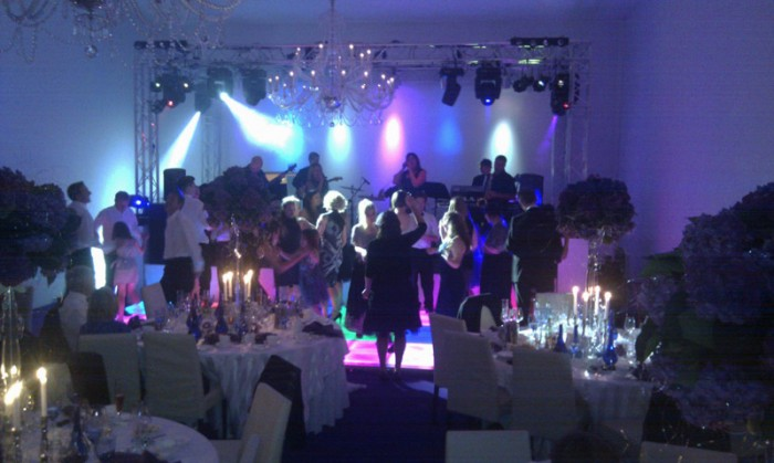 Wedding Party with LED Dance Floor Hire