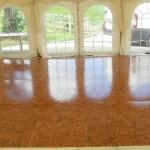 Classic Wooden Dance Floor Hire in Marquee