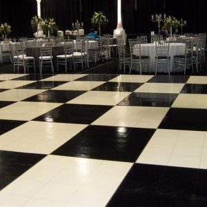 Black & White Dance Floor Hire