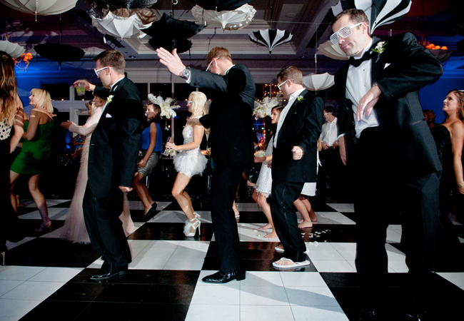 Dance Floor Hire - Black & White Example