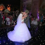 Wedding Dance on a star dance floor