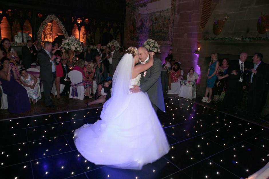 Wedding Dance on a star dance floor