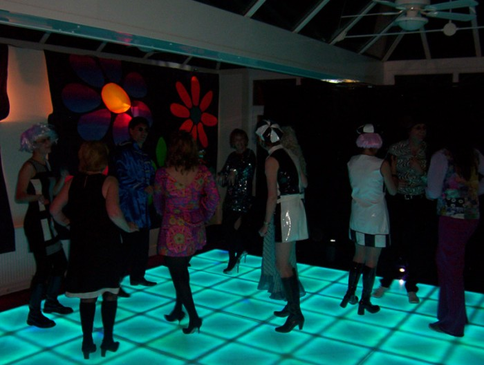 Theme party with colourful LED Dance Floor