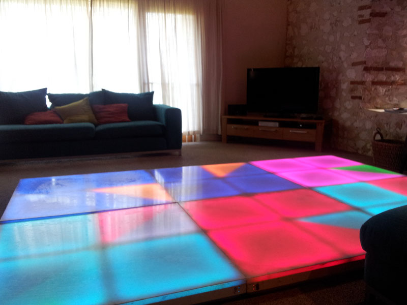LED Dance Floor Hire at home