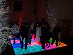 LED Flash Dance Floor at Christmas party