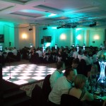 Table lighting hire and matching dance floor