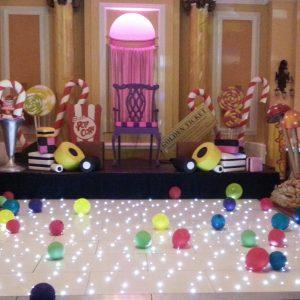 white wedding gloss white dance floor