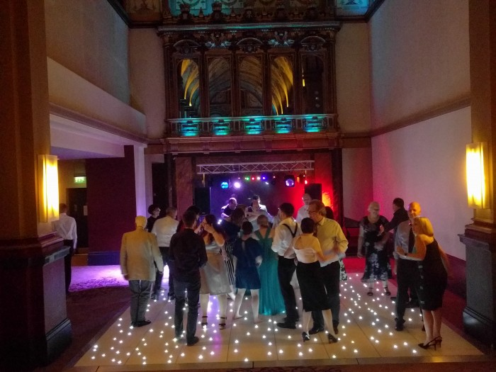led wedding dance floor hire
