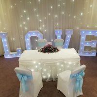 LED Letters Backdrops