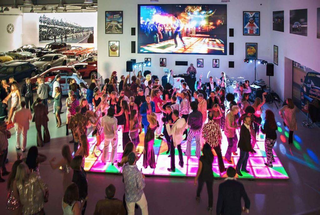 Car Showroom Launch Party Dance Floor Hire Disco DJ Floors Lights