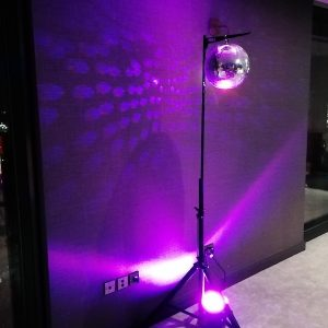 Entrance Effects with Glitter Ball Mirrorball