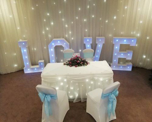 LED Love Letters Hire