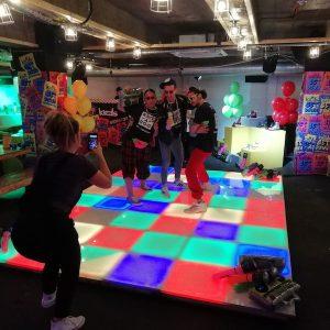 Filming LED Disco Hire Props