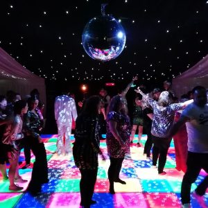 Sparkling-Glitter-Ball-Party-Hire