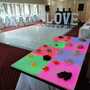 Wedding-Reception-Party-Hire-LED-Tables-Love-Letters