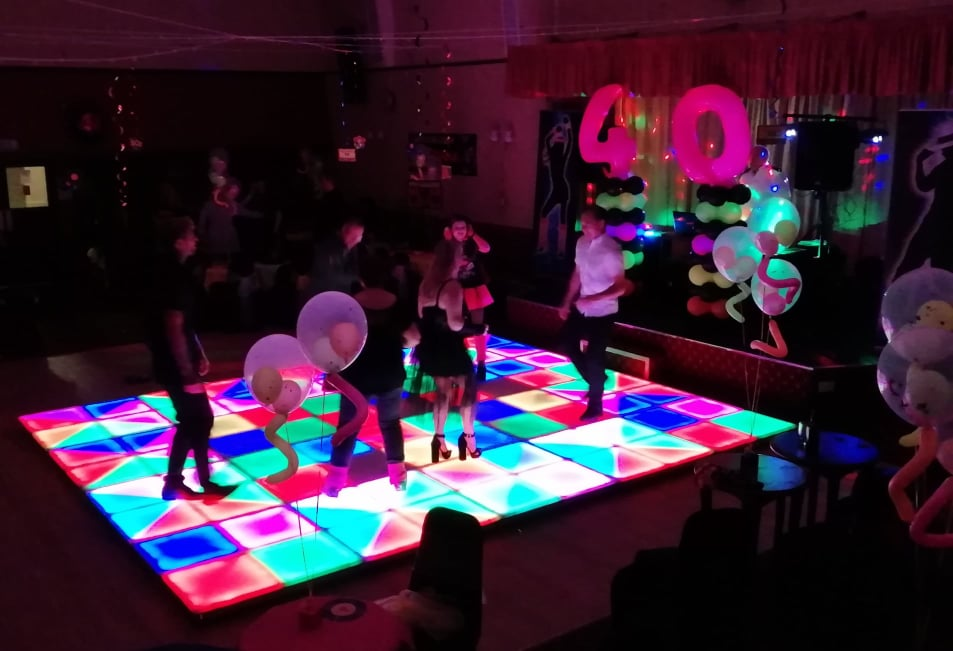 LED-Dance-Floor-Hired-for-40th-Party